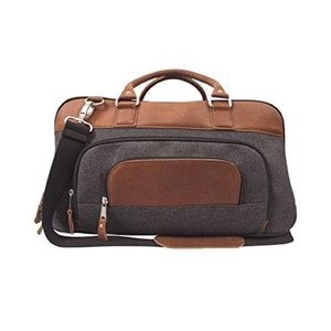 """Canyon Outback Brody 18"""" Wool Leather Duffel Bag"""